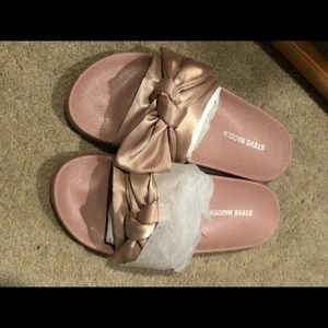 Steve Madden Slides with satin bow